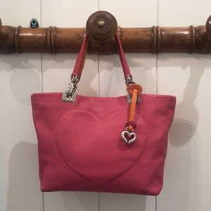 Gorgeous Brighton Pink Leather Sachel Tote Lk New!